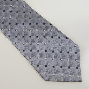 Umo Lorenso Men's Necktie Made in Italy Gray White